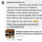 四处散播中国人传播疾病的泰国华裔女